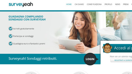 SurveYeah Nuovi sondaggi remunerati su Paypal