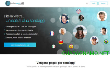 Nuovo panel di sondaggi retribuiti OnlinePanelNET