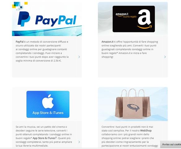 Sondaggi online pagati con buoni Amazon